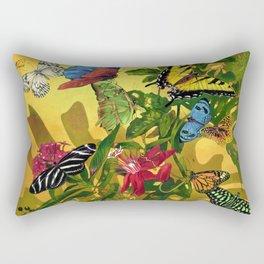 Tropical Butterfly Sunset Rectangular Pillow