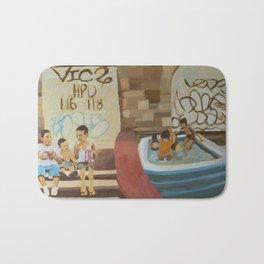 block party Bath Mat