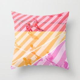 pedestrian pathway color Throw Pillow