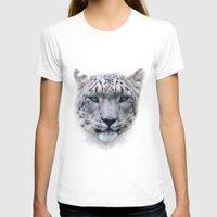 snow leopard T-shirts featuring snow leopard by ulas okuyucu