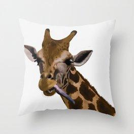 la jirafa Throw Pillow