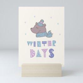 Winter Days Mini Art Print