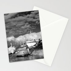 Ships at the harbor Stationery Cards
