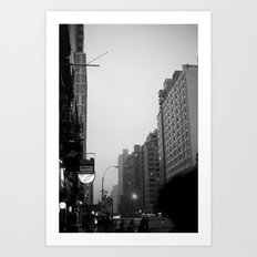new york city in the rain  Art Print
