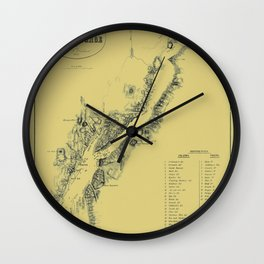 Map of Lake George 1855 Wall Clock