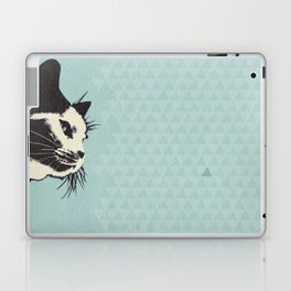 Cat on Blue - Lo Lah Studio Laptop & iPad Skin