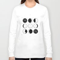 moon phases Long Sleeve T-shirts featuring The Moon Phases by Mírë
