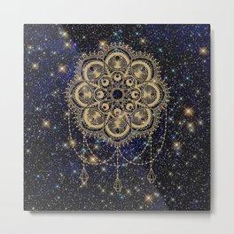 Interstellar Mandala Metal Print