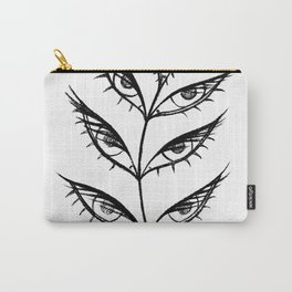 eyes for leaves (in black) Carry-All Pouch