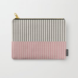 Color Block Lines XIV Vintage Pink Carry-All Pouch