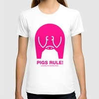 pigs T-shirts featuring Pigs Rule! by Paul Breen