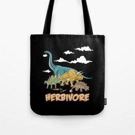 Dino Vegan Vegetarian Herbivore Gift Tote Bag
