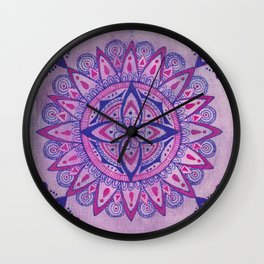 Simpe Purpe Manala Wall Clock