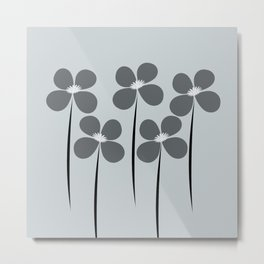Abstract Night Flowers Metal Print