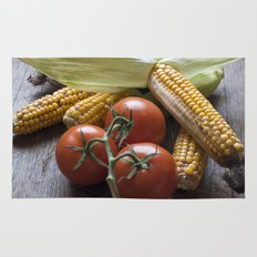 Tomatoe-Corn-Stillife Rug