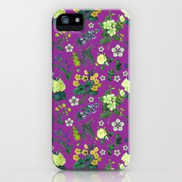 Garden flowers 4 iPhone Case
