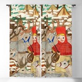 Reindeer Herding Blackout Curtain