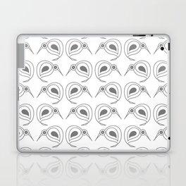 Kiwis in repeating grey pattern by NZ designer Laptop & iPad Skin