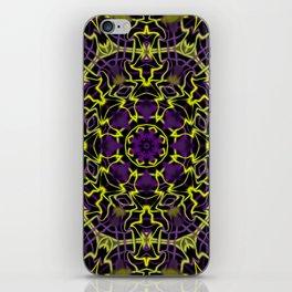 Purple Yellow and Black Kaleidoscope iPhone Skin
