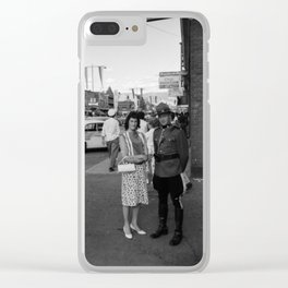 A Tourist Moment Clear iPhone Case