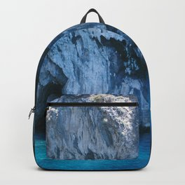 NATURE'S WONDER #3 - BLUE GROTTO #art #society6 Backpack