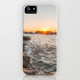 Admiring the sea to the last rays of sun... iPhone Case