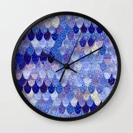 SUMMER MERMAID ROYAL BLUE Wall Clock