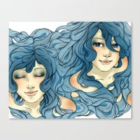 aqua Canvas Prints featuring Aqua by saravidigal