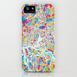 Hamburg Germany City Map iPhone Case