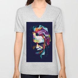 joker in colorful popart style Unisex V-Neck