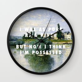 Claude Monet, The Seine at Lavacourt (1880) / Halsey, Haunting (2015) Wall Clock