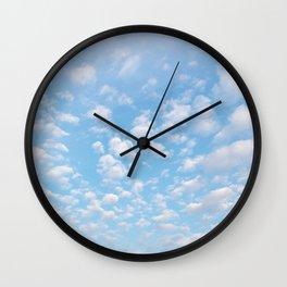 The bright blue sky in my backyard Wall Clock