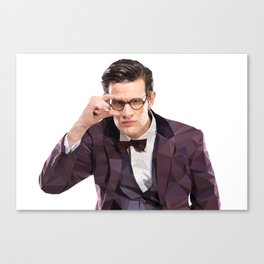The Eleventh Doctor, Matt smith low poly portrait Canvas Print