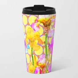 FUCHSIA-YELLOW IRIS GARDEN DESIGNS Travel Mug