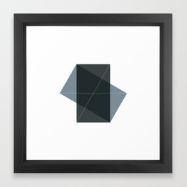 #131 Conversation – Geometry Daily Framed Art Print