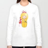 kill bill Long Sleeve T-shirts featuring Kokeshi Beatrix of Kill Bill by Pendientera