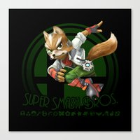super smash bros Canvas Prints featuring Fox - Super Smash Bros. by Donkey Inferno