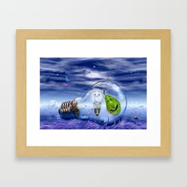 The perfect couple to dive Framed Art Print