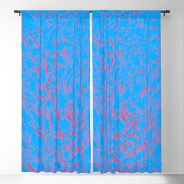 eruption, red on blue Blackout Curtain
