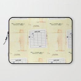 Library Book Date Due Card Laptop Sleeve