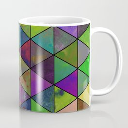 Textured Triangulation - Abstract, geometric triangles Coffee Mug
