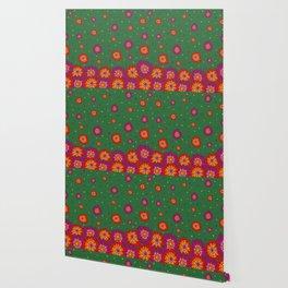 Retro Blooming Wallpaper