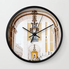 Arco da Rua Augusta Art Print   Travel Photography   Arco da Rua Augusta Lisbon Portugal Wall Clock