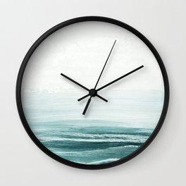 hazy emerald sea Wall Clock