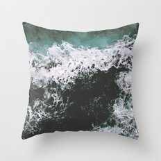 Rough Waters Throw Pillow