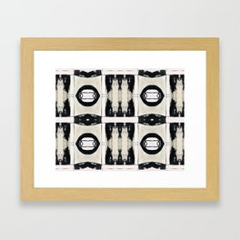 Black And White Abstract Pattern Framed Art Print