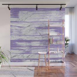 Modern abstract violet watercolor brushstrokes marble pattern Wall Mural