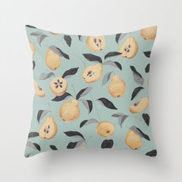 Quince Fruit  Throw Pillow