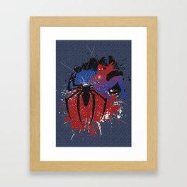 Splashing Spidey Framed Art Print