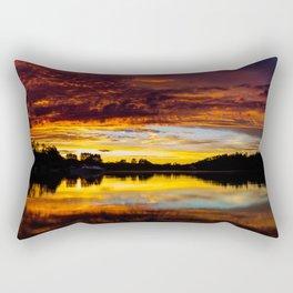 Fiery Sunset Rectangular Pillow